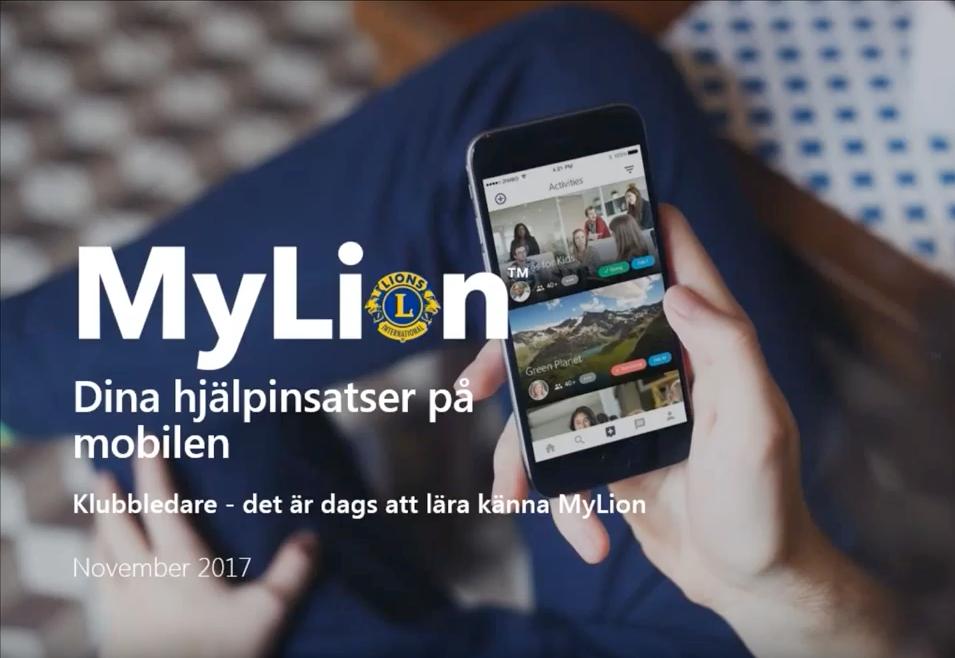 MyLion en app som förenar alla Lions